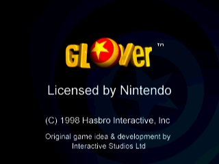 Glover (USA) Title Screen
