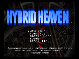 Hybrid Heaven (Europe) (En,Fr,De) Title Screen