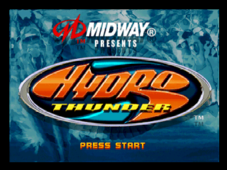 Hydro Thunder (Europe) Title Screen