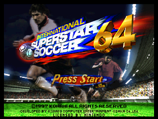 International Superstar Soccer 64 (USA) Title Screen