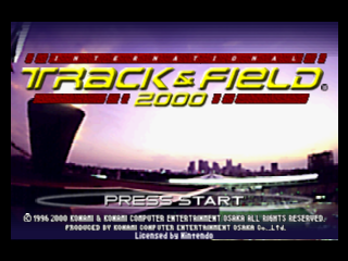 International Track & Field 2000 (USA) Title Screen