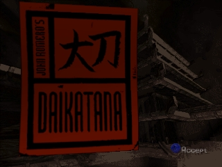 John Romero's Daikatana (USA) Title Screen