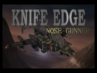 Knife Edge - Nose Gunner (USA) Title Screen