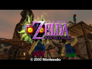 Legend of Zelda, The - Majora's Mask (USA) (Preview Demo) Title Screen