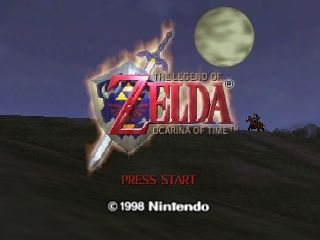 Legend of Zelda, The - Ocarina of Time (USA) Title Screen