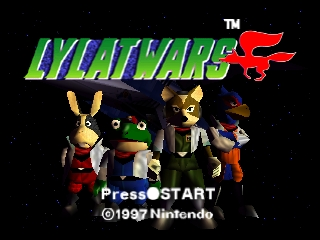 Lylat Wars (Europe) (En,Fr,De) Title Screen