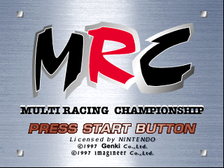 MRC - Multi Racing Championship (USA) Title Screen