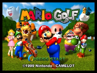 Mario Golf (USA) Title Screen
