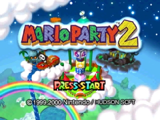 Mario Party 2 (Europe) (En,Fr,De,Es,It) Title Screen