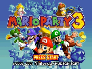 Mario Party 3 (Europe) (En,Fr,De,Es) Title Screen