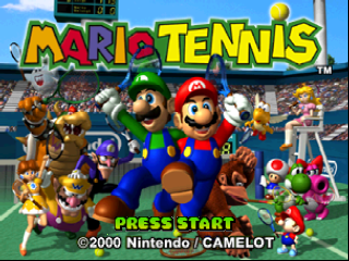 Mario Tennis (Europe) Title Screen