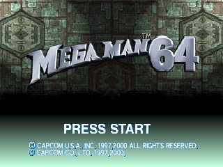 Mega Man 64 (USA) Title Screen