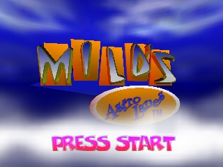 Milo's Astro Lanes (USA) Title Screen