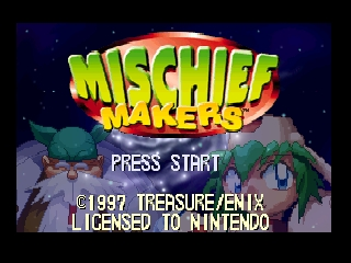 Mischief Makers (USA) Title Screen