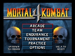 Mortal Kombat 4 (USA) Title Screen