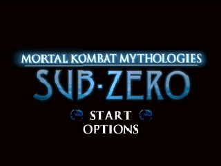 Mortal Kombat Mythologies - Sub-Zero (Europe) Title Screen