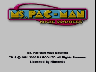 Ms. Pac-Man - Maze Madness (USA) Title Screen