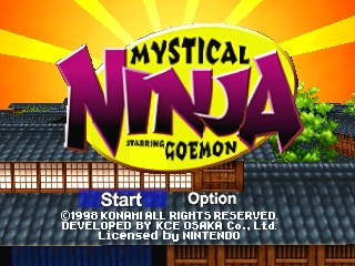 Mystical Ninja Starring Goemon (USA) Title Screen