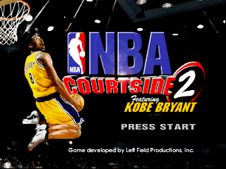 NBA Courtside 2 featuring Kobe Bryant (USA) Title Screen