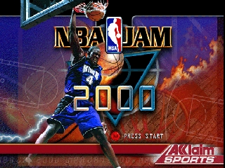 NBA Jam 2000 (Europe) Title Screen
