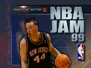 NBA Jam 99 (Europe) Title Screen