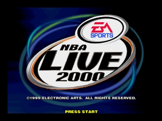 NBA Live 2000 (Europe) (En,Fr,De,Es) Title Screen