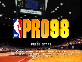 NBA Pro 98 (Europe) Title Screen