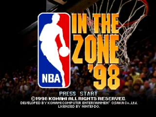 NBA in the Zone '98 (USA) Title Screen