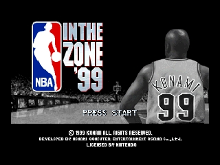 NBA in the Zone '99 (USA) Title Screen