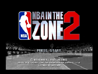 NBA in the Zone 2 (Japan) Title Screen