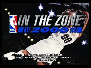 NBA in the Zone 2000 (Europe) Title Screen
