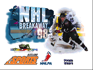 NHL Breakaway 98 (USA) Title Screen