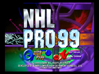 NHL Pro 99 (Europe) Title Screen