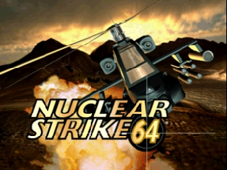 Nuclear Strike 64 (Germany) Title Screen