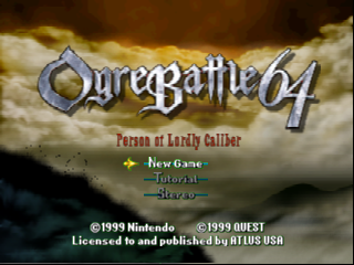 Ogre Battle 64 - Person of Lordly Caliber (USA) Title Screen