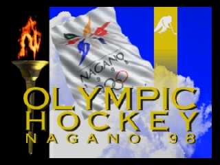 Olympic Hockey Nagano '98 (Japan) Title Screen