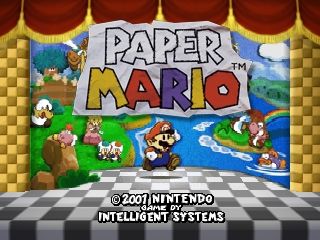 Paper Mario (USA) Title Screen