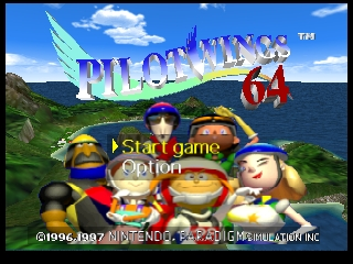 Pilotwings 64 (Europe) (En,Fr,De) Title Screen
