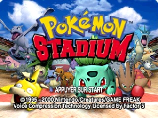 Pokemon Stadium (France) Title Screen