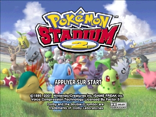 Pokemon Stadium 2 (France) Title Screen