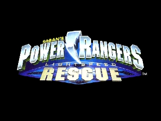 Power Rangers - Lightspeed Rescue (USA) Title Screen