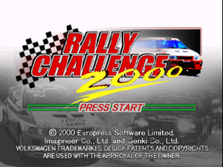 Rally Challenge 2000 (USA) Title Screen