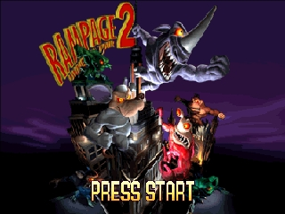Rampage 2 - Universal Tour (USA) Title Screen
