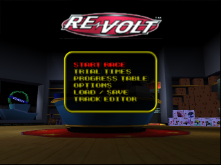 Re-Volt (USA) Title Screen