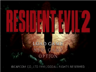Resident Evil 2 (Europe) (En,Fr) Title Screen