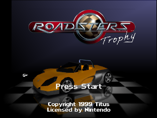 Roadsters Trophy (USA) (En,Fr,Es) Title Screen