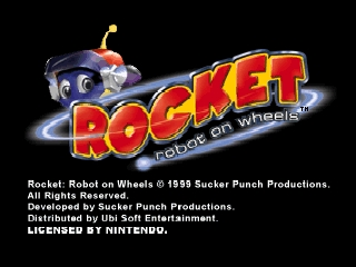 Rocket - Robot on Wheels (USA) Title Screen