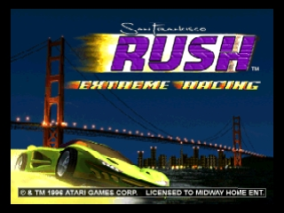 San Francisco Rush - Extreme Racing (USA) (En,Fr,De) Title Screen