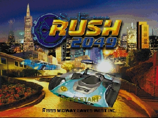 San Francisco Rush 2049 (Europe) (En,Fr,De,Es,It,Nl) Title Screen