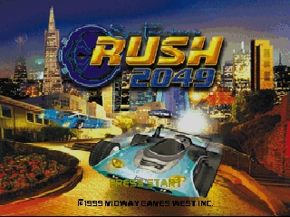 San Francisco Rush 2049 (USA) Title Screen